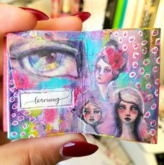 "1,067 Likes, 18 Comments -  Jane Davenport  (@janedavenport) on Instagram: ""Look at this mini art journal! Its made by Belen  @ArtandWhimsy I love seeing my little drawings in…"""