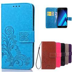 Luxury Retro Flip Case For Samsung Galaxy A5 2017 A520 Silicon Cover Card holder Phone Case For Samsung Galaxy A5 2016 Case