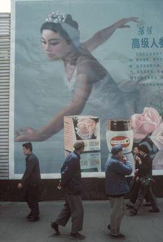 Bruno Barbey, Billboard for Japanese cold cream, Shanghai, 1980. © Bruno Barbey/Magnum Photos