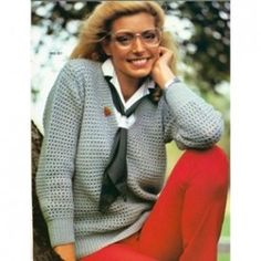 Vintage Bernat Country Casuals Knit Crochet Patterns Sweaters & Skirt