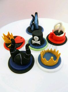Disney Villian cupcake toppers by Pirate on Etsy.com