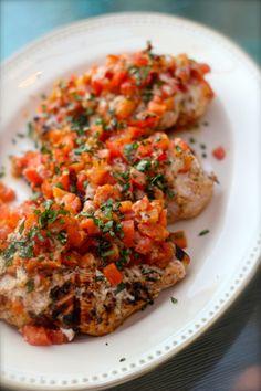 Grilled Chicken Bruschetta... simple, speedy, and so yummy