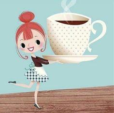 Un peti café se matin Coffee Girl, I Love Coffee, My Coffee, Coffee Lovers, Good Morning Coffee, Coffee Break, Coffee Cafe, Coffee Drinks, Bon Mardi Humour