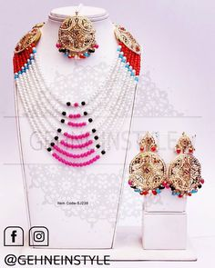 No automatic alt text available. Exclusive Collection, Necklace Designs, Necklace Set, Jewelry, Jewlery, Bijoux, Schmuck, Jewerly, Jewels