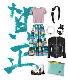 """""""Untitled #140"""" by stiilmedstudi ❤ liked on Polyvore featuring Dr. Martens, L.K.Bennett, IF Bags, Salvatore Ferragamo, Lokai and Versace"""