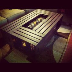 Crate coffee table <3