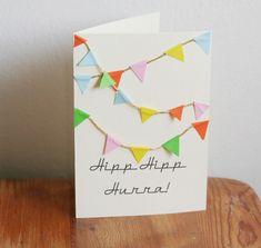 födelsedagskort, Birthday card, DIY