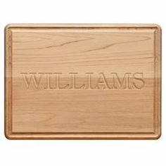 Personalized Rectangle Wood Cutting Board, Small 9x12  $42.95