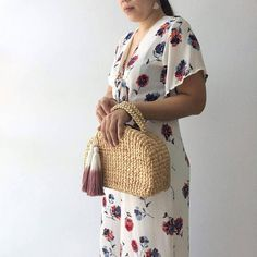 Straw Bag / Bridesmaids Totes / Picnic Bag / basket bag /