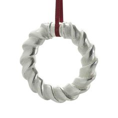 18c5c7292 Wreath by Richard Fox #Christmas #ChristmasDecorations #Xmas  #XmasDecorations #Silver #ChristmasTree