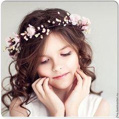 """Handmade flowers diadem /  Нежный венок """"Розовый бархат"""" - розовый, розово-коричневый, свадебный венок, нежность"""