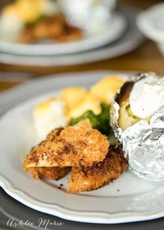 the best part of this meal is the recipe for homemade breaded chicken tenders