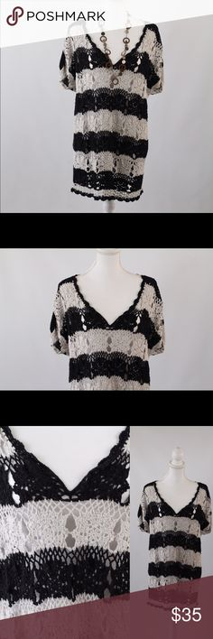 Free People Crochet Tunic Gorgeous crochet Tunic by Free People. Great condition, Size L. Free People Tops Tunics