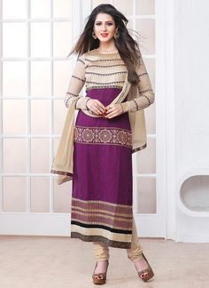 http://www.sareesaga.in/index.php?route=product/product&product_id=14545 Work	:	Embroidered Resham Work	 Style	:	Churidar Suit Shipping Time	:	10 to 12 Days	 Occasion	:	Party Festival Fabric	:	Georgette	 Colour	:	Purple For Inquiry Or Any Query Related To Product,  Contact :- +91 9825192886