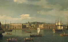 Canaletto (Giovanni Antonio Canal) 'A View of Greenwich from the River', c.1750–2. Tate; on long-term loan from a private collection since 1997.