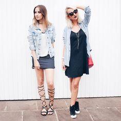 muito preto e branco e um toque de jeans nos looks confy de sexta. estamos loucas por um friozinho e looks com mais camadas, quem mais?  #stylemood