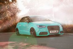 Audi A1, Tiffany Blue, Motorbikes, Teal, Cars, Vehicles, Autos, Tiffany Blue Color, Rolling Stock