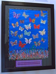 Each butterfly was colored by a grade student. Silent Auction item Spring 2011 by hollie Classroom Auction Projects, Art Auction Projects, Class Art Projects, Collaborative Art Projects, Art Classroom, Group Projects, Silent Auction, Auction Items, Preschool Art