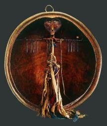 Shaman's drum - Tur. Altai, Tomsk Province. Late 19th - early 20th century