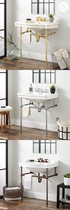 Explore classic console sinks for your next timeless bathroom remodel. All style… Explore classic console sinks for your next timeless … Timeless Bathroom, Beautiful Bathrooms, Console Sink, Classic Consoles, Interior Design Living Room, Kitchen Interior, Decoration, Home Remodeling, Bathroom Remodeling