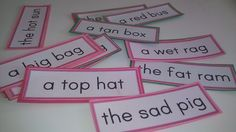 my version of pink series phrases inspired by The Learning Ark.  i chose to leave pictures out to take the guessing element out.