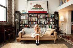 Opening Ceremony buyer Kate Foley's Williamsburg apartment --- framed CA flag = a must have Apartment Living, Room, House, Stylish Apartment, Home, Living Spaces, House Styles, Apartment Chic, Interior Design