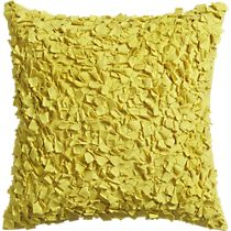 "rimple yellow 20"" pillow"
