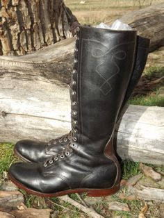 1930s Vintage Diamond Brand Motorcycle Engineer 9D Boots Rare Friedman Shelby #DiamondBrand #Motorcycle