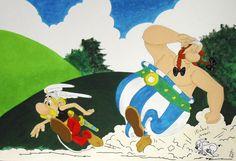 Asterix y Obelix, realizados con pinturas acrílicas #lienzo #acrílico