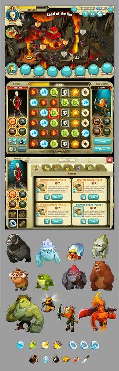 Elements Battle by Elia Golovchak, via Behance