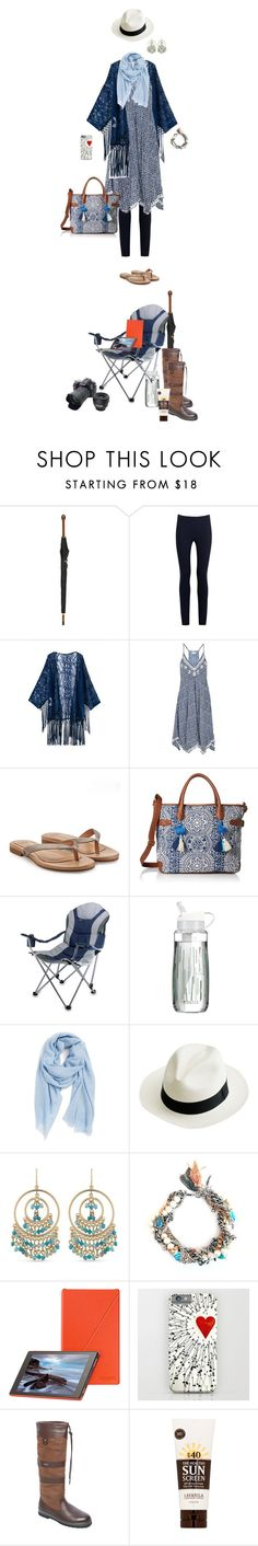 """You can tell she's used to UK festivals - ready for anything lol"" by fsommerv ❤ liked on Polyvore featuring Alexander McQueen, Donna Karan, UGG Australia, T-shirt & Jeans, Picnic Time, Brita, Nordstrom, J.Crew, Carolee and Nikon"