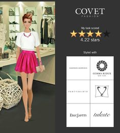 Covet Fashion Game. Look: Uptown Class