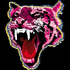 Pixel Tiger is a T Shirt designed by weckywerks to illustrate your life and is available at Design By Humans