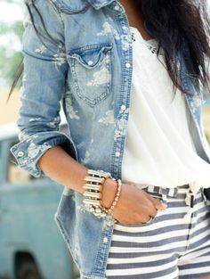 Florals and stripes.