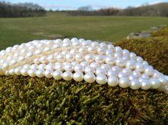 AAA Grade Rice Pearls 78mm Strand by Blandsgill on Etsy, £17.50