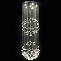 Contempo Collection Contemporary Modern Chandelier -Pendant K9 Crystals - magnificent Double Balls - XXL Contempo Collection http://www.amazon.com/dp/B009WY008W/ref=cm_sw_r_pi_dp_ksUSub12KG6FN