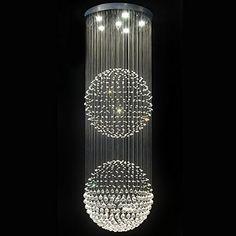 Contempo Collection Contemporary Modern Chandelier -Pendant K9 Crystals - magnificent Double Balls - XXL Contempo Collection http://www.amazon.com/dp/B009WY008W/ref=cm_sw_r_pi_dp_ksUSub12KG6FN
