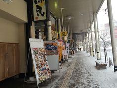 눈 오는 아오모리역 풍경  그냥 작은 소도시.  대부분 문을 닫아서  조금 을씨년스러운.