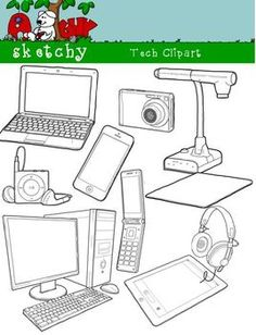 Technology clipart! All types of technology that may be seen in the classroom or community!