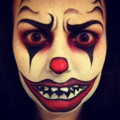 Simple Scary Clown Makeup | Makeup | Pinterest | Scary clown ...
