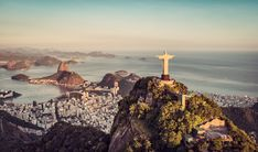 Photographic Print: Aerial Panorama of Botafogo Bay and Sugar Loaf Mountain at Sunset, Rio De Janeiro, Brazil by : World Cruise, 7 Continents, Thing 1, Brazil Travel, Travel Agency, Luxury Travel, Seattle Skyline, Trip Planning, South America