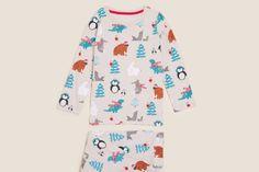 Best Children's Christmas Pyjamas 2021 UK Animal Pajamas, Motifs Animal, Childrens Christmas, Cotton Pyjamas, Christmas Pajamas, Nightwear, Polar Bears, Long Sleeve Tops, Christmas Trees