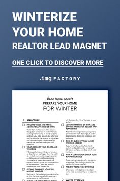 Real Estate Printable Checklist, Prepare Your Home For Autumn Fall Winter Planner, Real Estate Marketing Presentation, Buyer Seller Guide Real Estate Buyers, Real Estate Tips, Lead Generation, Mobile Home Makeovers, Colorado Real Estate, Estate Law, Marketing Presentation, Home Staging Tips, Remodeling Mobile Homes