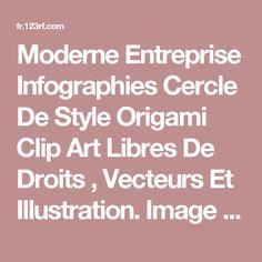 Moderne Entreprise Infographies Cercle De Style Origami Clip Art Libres De Droits , Vecteurs Et Illustration. Image 22121399.