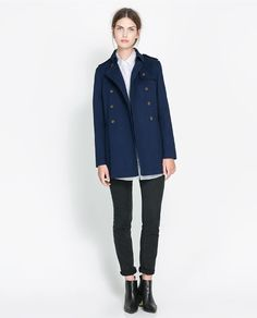 Image 1 of SHORT CROSSOVER TRENCH COAT from Zara