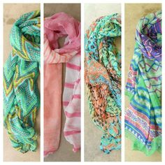 summer scarves add a pop of color <3