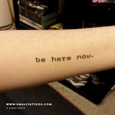 Be Here Now Temporary Tattoo (Set of 3) – Small Tattoos