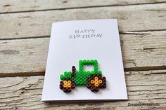 FrauSchweizer handgemachte Karten: zum Geburtstag, Happy Birthday mit Traktor