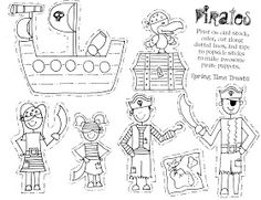 Spring Time Treats: Paper Puppets FREE (Space Robots, Pirates, Cowboys, Fairies & Mermaids)