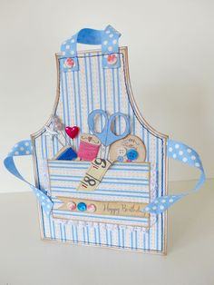 Card made by clare curd using Craftwork Cards Leisure Time apron cards and papers.